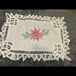 Vintage set of napkins and placemats. Christmas